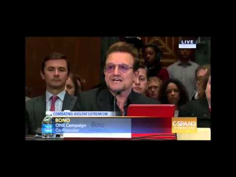 Bono Opening Statement Senate. Foreign Aid Isn't Charity Its National Security