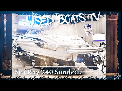 2002 Sea Ray 240 Sundeck Live Video Review - Boat Test _ Boat Review