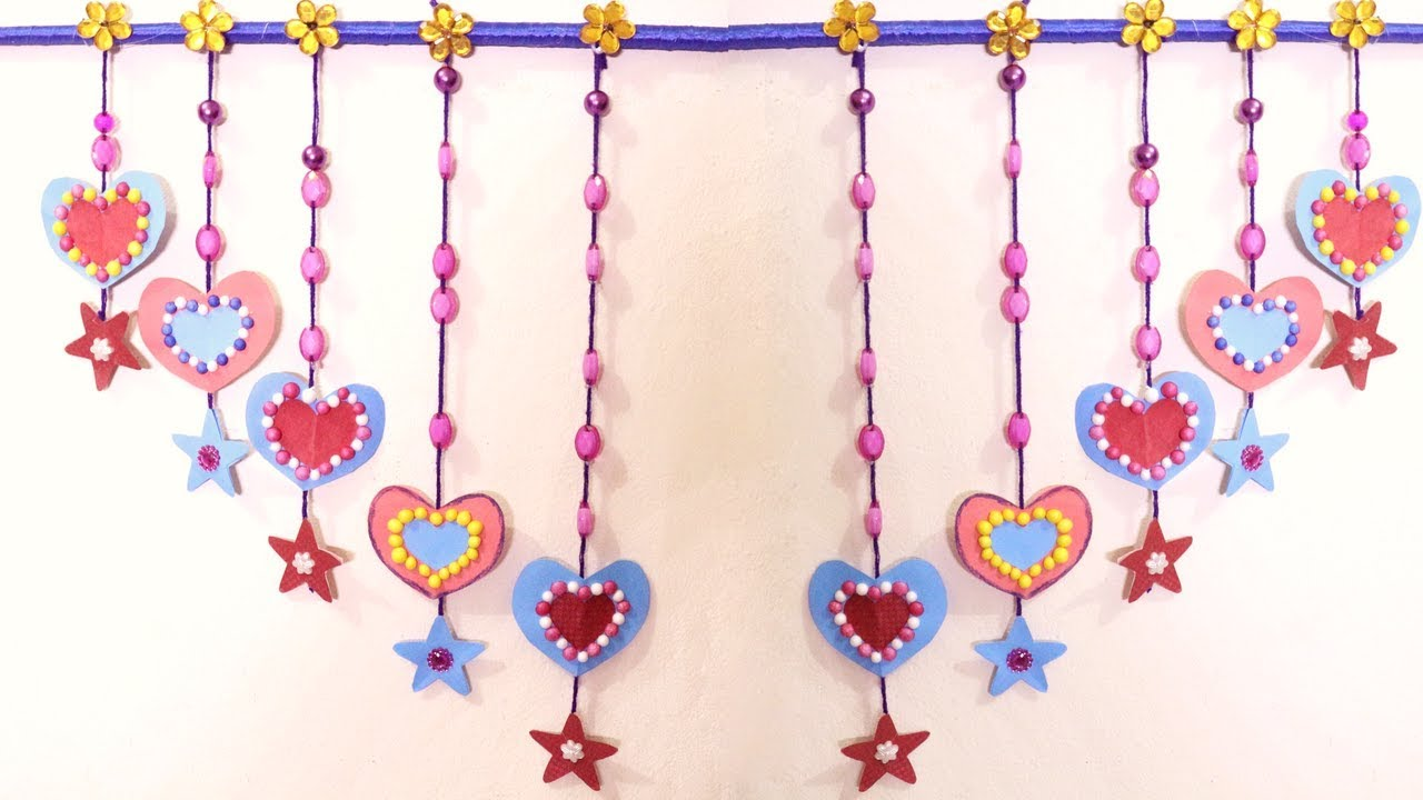 how to make heart wall hanging