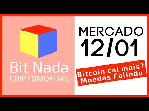 Mercado de Cripto! 12/01 Bitcoin cai mais? / ICOs e Altcoins FALINDO!