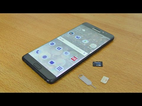 Samsung Galaxy Note 7 - How to Insert SIM & Micro SD Card EASILY!