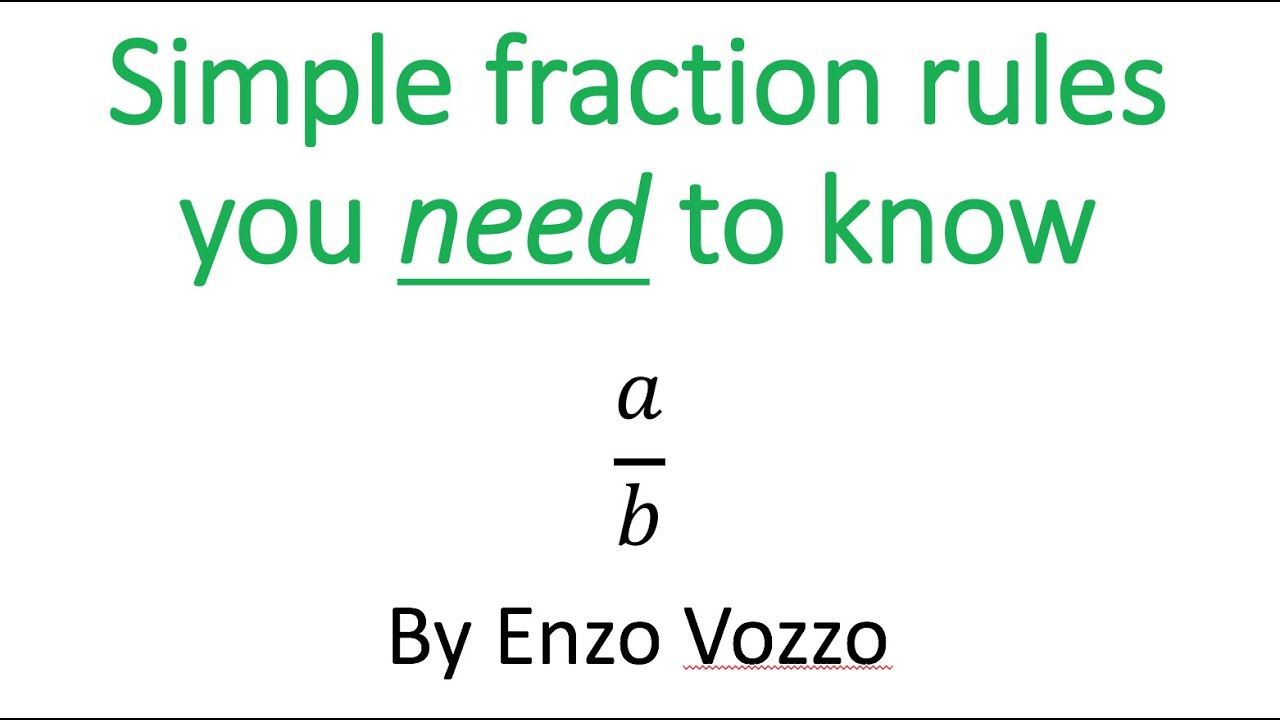 worksheet Simple Fraction simple fraction rules youtube rules