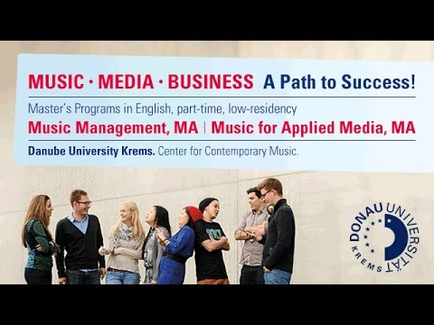 Music, Media, Business - a Path to Success! New Master of Arts Programs at the Danube University!