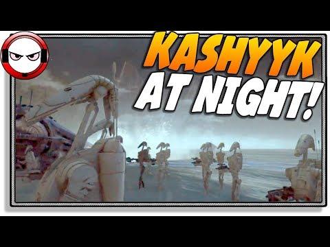 Kashyyk at night! (Star Wars Battlefront 2 gameplay)