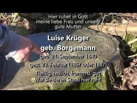 Ahnenforschung Luise BORGEMANN. Friedhof in Altcüstrinchen, Königsberg (Neumark)
