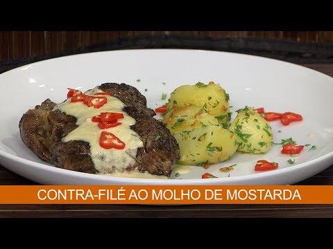 CONTRA-FILÉ AO MOLHO DE MOSTARDA