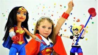 Распаковка Харли Квинн и Чудо Женщины. Видео для детей