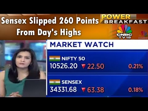 Sensex Slipped 260 Points From Day's Highs   Power Breakfast (Part 1)   19th April 2018   CNBC TV18