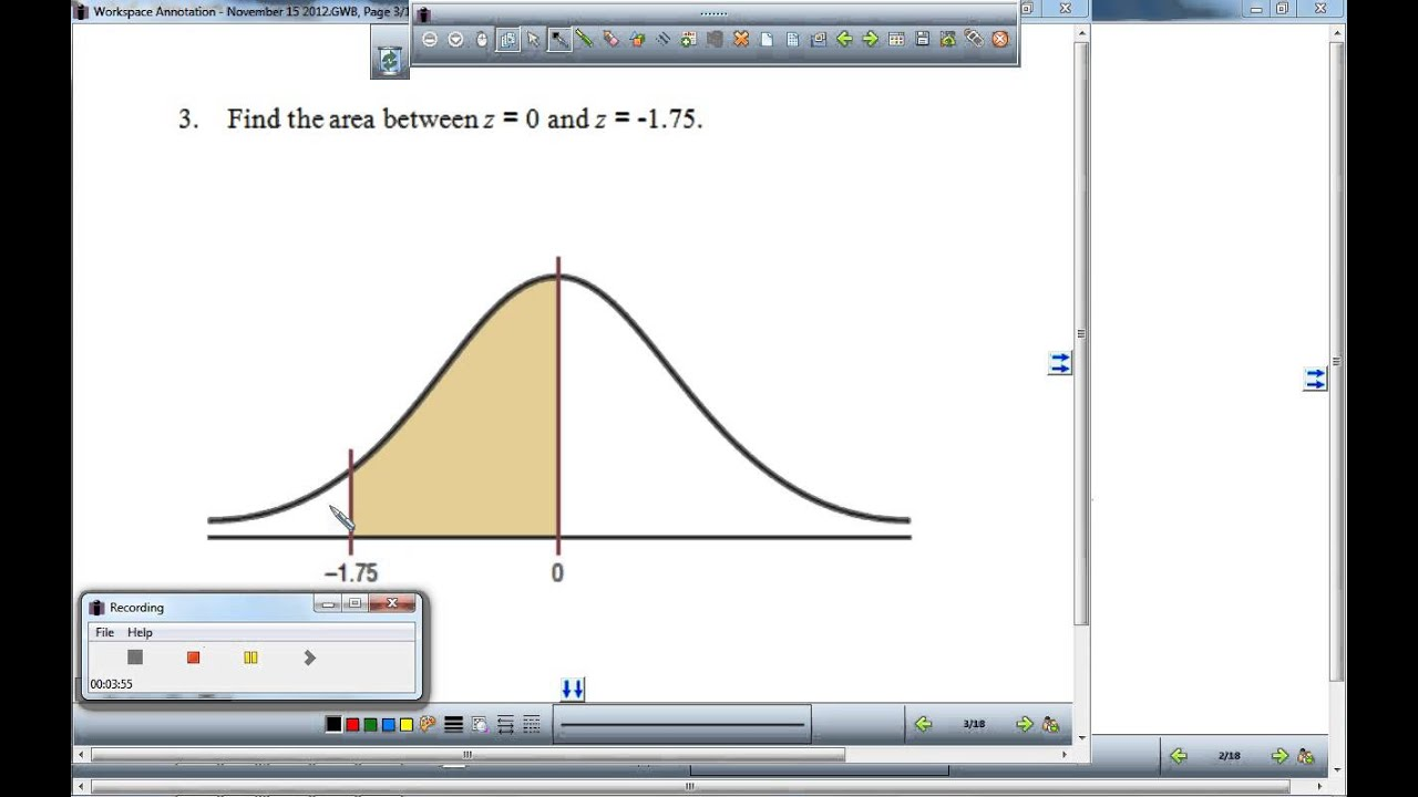 Find the area under the standard normal curve 1 youtube find the area under the standard normal curve 1 ccuart Images