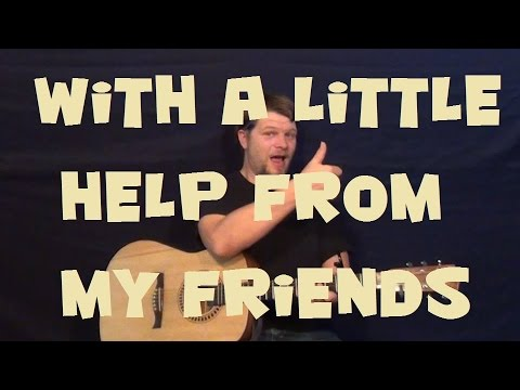 With A Little Help From My Friends (The Beatles) Guitar Lesson How ...