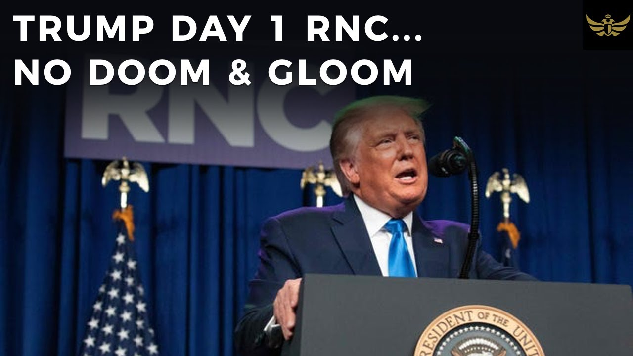 Biden busted plagiarizing, AGAIN. Trump sets tone NO DOOM & GLOOM. Day 1 RNC