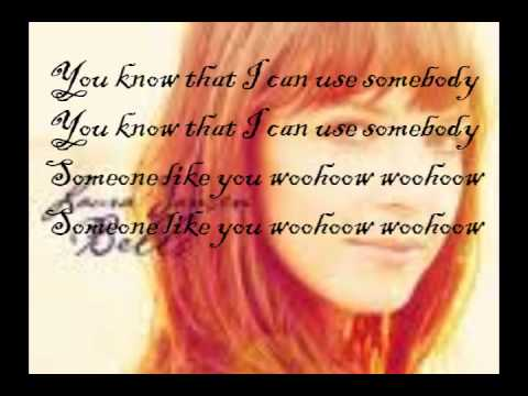 Laura Jansen - Use Somebody - Lyrics