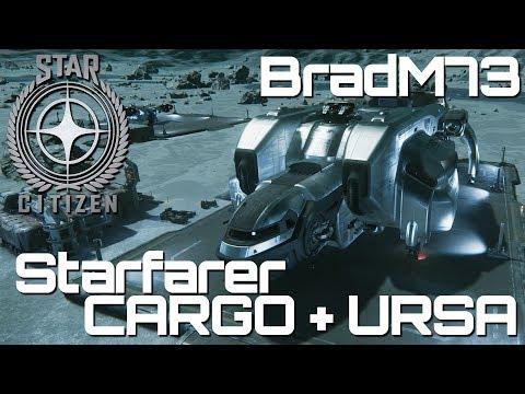 Star Citizen MISC Starfarer CARGO RUN with URSA ROVER!!