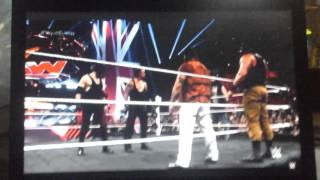 The undertaker and kane return to attack the wyatt family