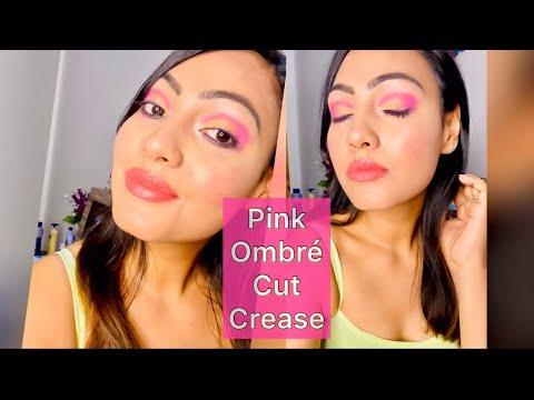 pink ombrÉ cut crease  tutorial  beautyranjana