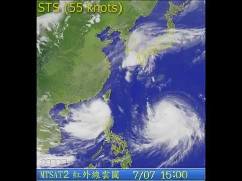 Typhoon LINFA (2015/10W) satellite imagery 颱風蓮花衛星圖