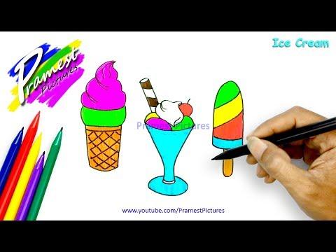 Cara Menggambar Es Krim Cara Menggambar Dan Mewarnai Tv Anak