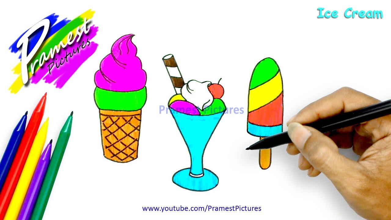 mewarnai gambar es krim untuk anak tk