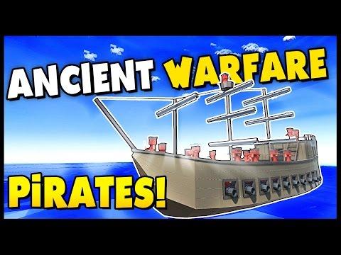 PIRATE SHIP BATTLES ON THE OCEAN MAP! - Ancient Warfare 2 Naval Battles Gameplay