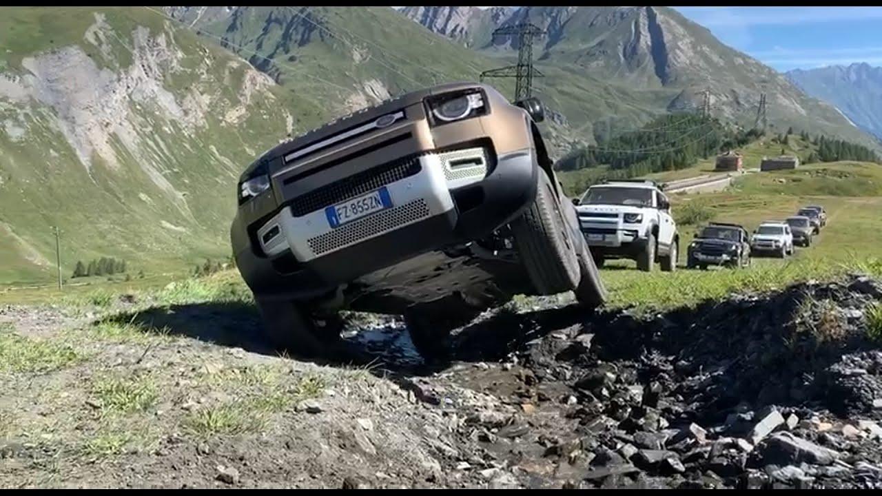Primo contatto con la nuova Land Rover Defender 2020 - Test drive, Trial, Twist, off road.