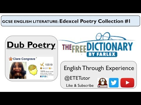 GCSE English Literature: Edexcel Poetry Collection #1 Dub Poetry