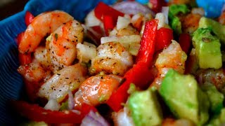 Shrimp & Avocado Salad (w/ Lime Vinaigrette)