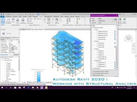 Autodesk Revit 2020 : Working with Structural Analysis Toolkit