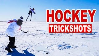 Hockey Trick Shots with How To Hockey | SweetSpotSquad