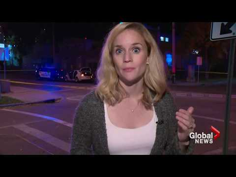Edmonton police tell Global reporter to run for cover during terror attack
