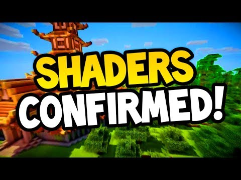 MINECRAFT CONSOLE SHADERS CONFIRMED FOR ALL PLATFORMS (Ps3/Xbox360/PS4/XboxOne/WiiU)