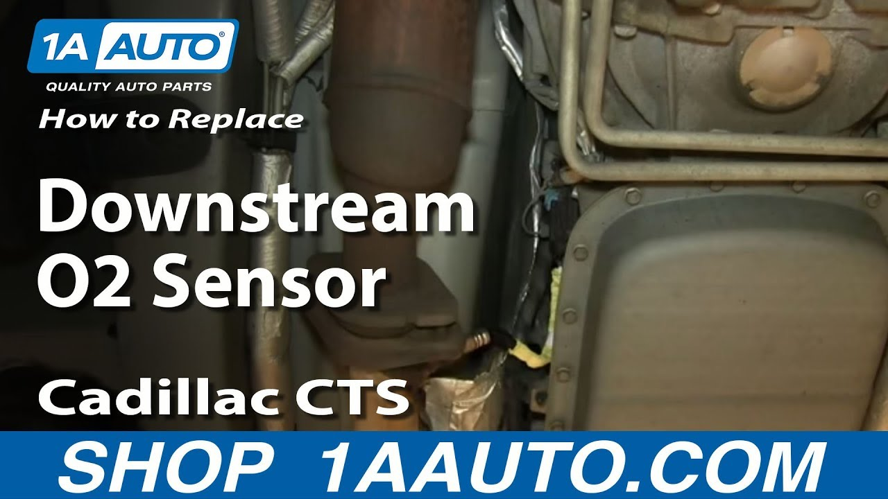 small resolution of how to replace rear downstream oxygen o2 sensor 03 07cadillac cts youtube