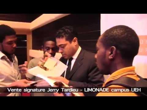 VIDEO SOUVENIR VENTE-SIGNATURE Jerry Tardieu à LIMONADE - Campus Henry Christophe