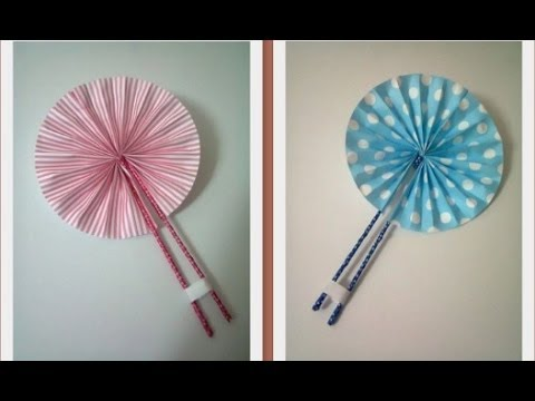 DIY 8 Cute Hand Fan