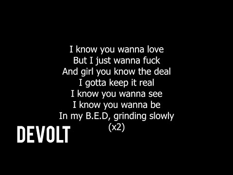 Jacquees Ft. Quavo & Ty Dolla Sign - B.E.D Pt. 2 (Lyrics on screen)