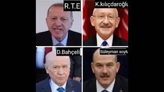 Tarafını seç :) (Komik montaj Erdoğan, Kılıçdaroğlu, Bahçeli, Soylu)