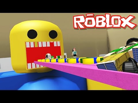 Roblox Adventures / Feed the Giant Noob / Turning Into Poop!
