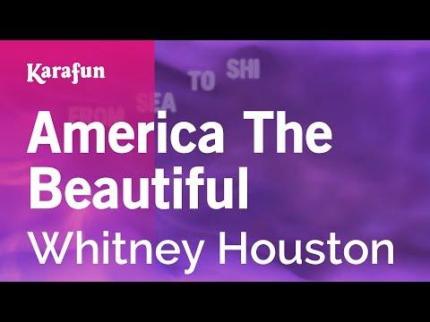 Karaoke America The Beautiful - Whitney Houston
