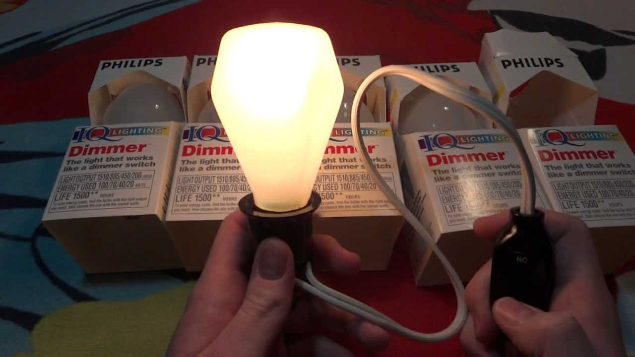 Philips IQ Lighting Dimmer light bulb & Philips IQ Lighting Dimmer light bulb - YouTube
