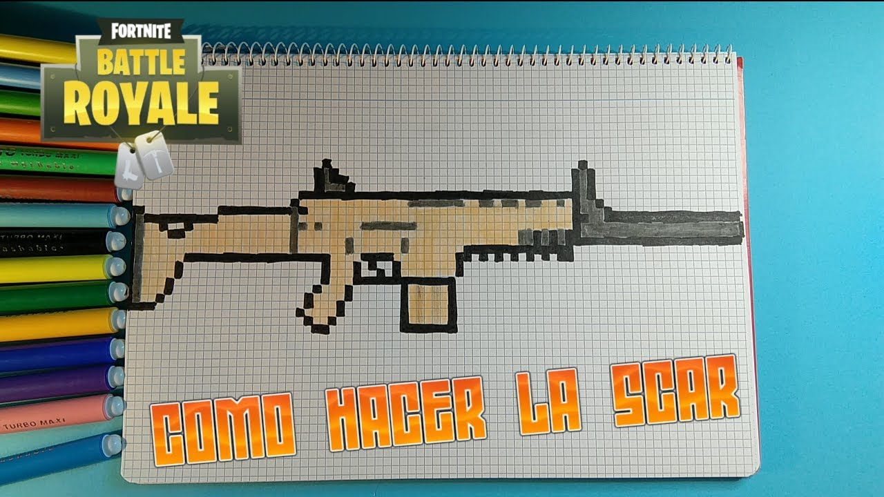 Como Hacer La Scar Rifle Fortnite Pixel Art
