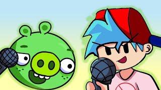 Friday Night Funkin' FNF - vs Pig - Badpiggies (Angry birds) Animacion batalla (Boyfriend y Pig)