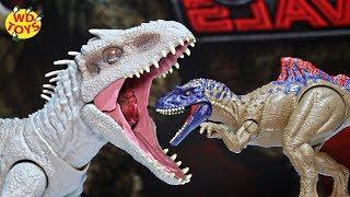 DESTROY N DEVOUR INDOMINUS REX UNBOXED!! Jurassic World Fallen Kingdom Mattel Dino Rivals WD Toys