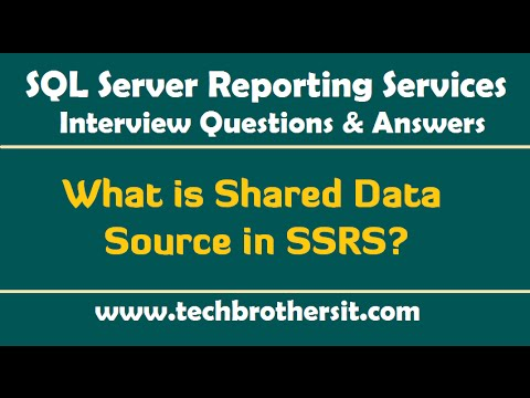 What is Shared Data Source & Embedded Data Source in SSRS - SSRS Interview  Questions and Answers