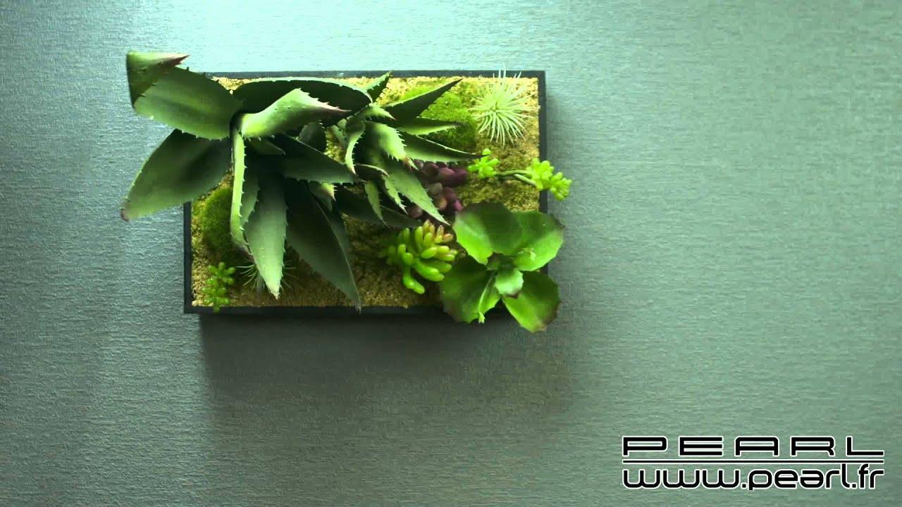 nx1324 tableau v g tal avec cadre succulentes 30 x 20 cm youtube. Black Bedroom Furniture Sets. Home Design Ideas