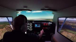X-PLANE 11 Cessna 172 CYND CYUL Francais