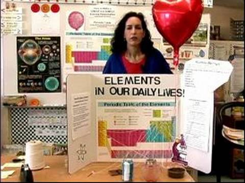 how to make a periodic table science presentation science fair