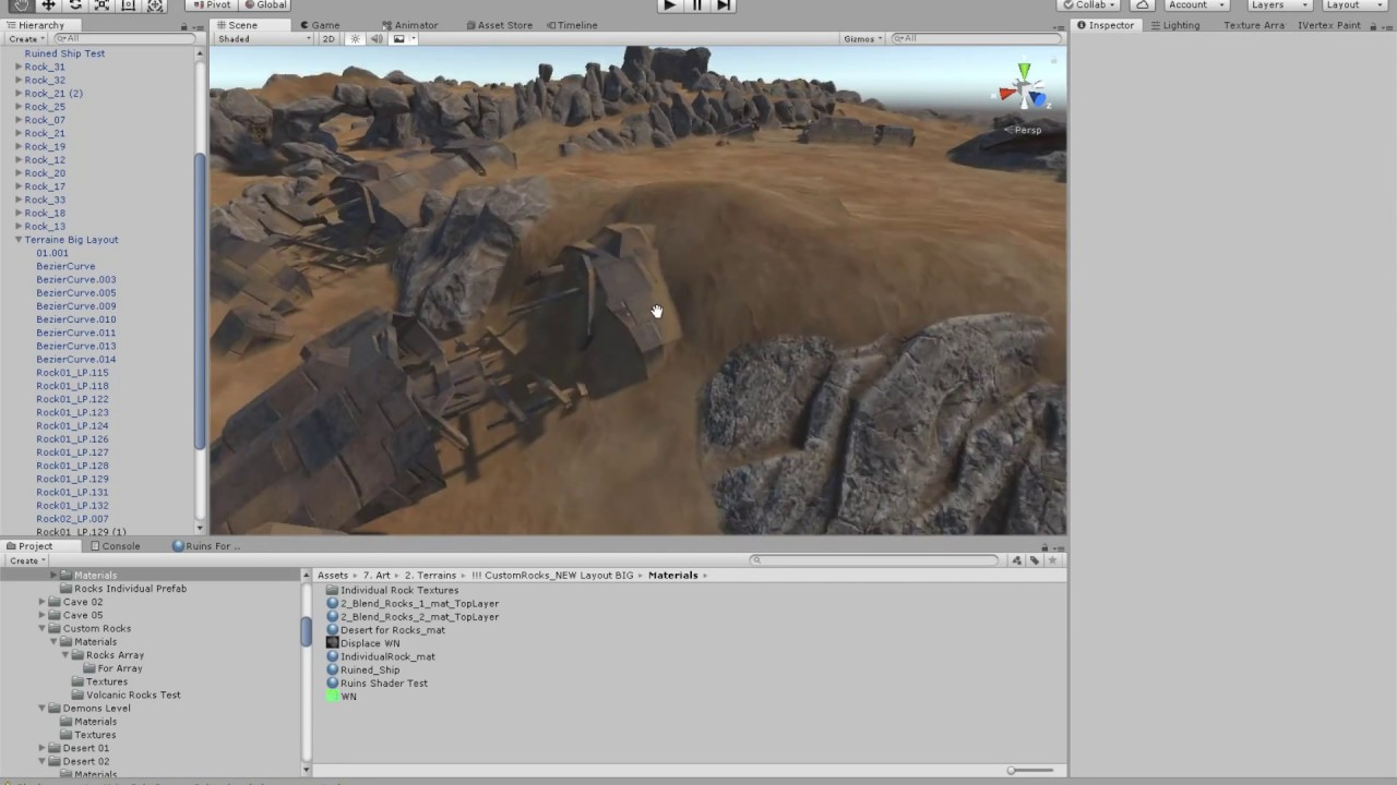 Mesh Blend with Terrain shader for Unity