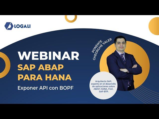 Webinar SAP ABAP para HANA - Exponer API con BOPF
