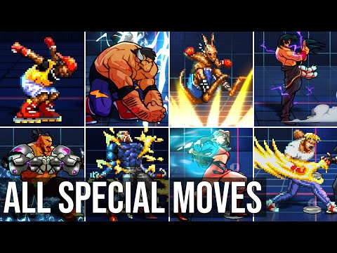 All Characters Special Moves (Original & Alternate Moves) - Streets of Rage 4 - Mr. X Nightmare DLC |