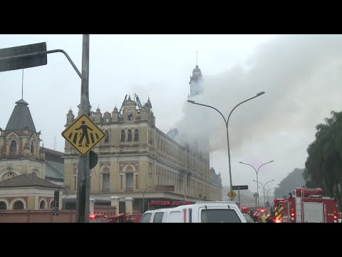 Fire Ravages Portuguese Language Museum in Sao Paulo