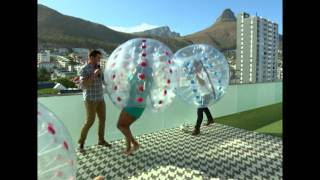 Leigh-Anne & Zoe vs Kat & Ewan in Bubble Football